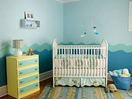 Colour Good Painting Baby Boy Nursery Decorating Ideas Natural Sky Blue And  Waves Nuance Wall Decorations Fishs Ideas Furniture Stickers Drawers