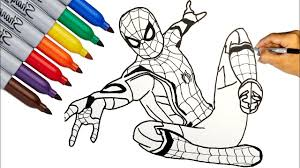 New spiderman spiderverse coloring pages, how to draw spiderman peter parker and miles morales #spiderman #spiderverse #coloringpages. Spider Man Spider Man Far From Home Coloring Pages How To Draw Spider Man Youtube