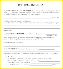 House Contract Form House Purchase Contract Form Real Estate Agreement Free