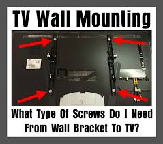 tv wall mounting what type of s do i need from wall bracket to tv