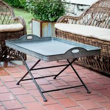 oversized metal coffee tray table