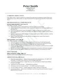 Mortgage Loan Officer Resume Sample Resume Of Bank Loan Officer Adorable Loan Officer Resume Examples