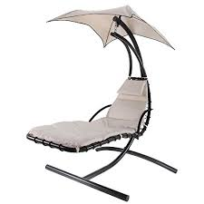 palm springs hanging swing helicopter chair cream