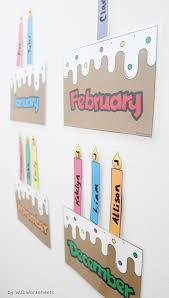 Birthday Display Bulletin Board Chart Classroom Birthday