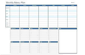 Diet Planner Template Weekly Meal Planning Template Free Weekly Meal