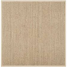 safavieh natural fiber montauk natural beige square indoor coastal area rug common 10