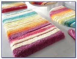 colored bath rug sets designs multi rugs striped mat