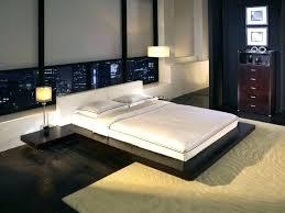 Flat Platform Bed Floating Platform Bed Frame Floating Black Wooden ...