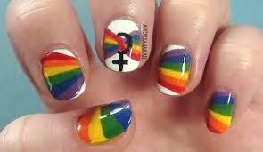 Gay Pride Nail Art Tutorial on Short Nails | ArcadiaNailArt - YouTube