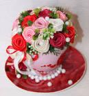 Как сделать букет цветов из лент атласных своими руками 35