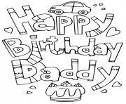 Happy birthday dad coloring pages printable. Happy Birthday Coloring Pages To Print Happy Birthday Printable