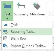 Gantt Chart For Repeated Tasks Create Recurring Tasks Project