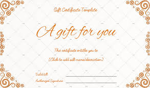 Customized Gift Certificates Birthday Gift Certificate Templates Editable Printable