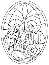 Free printable christmas nativity coloring page it was a clear and starry night when jesus was born as il. Glass Art Of Jesus Nativity Coloring Page Color Luna