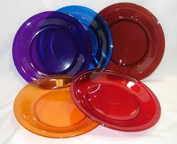 clear glass dessert plates colorful