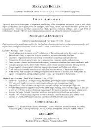 Cover Letter Examples For Executive Assistant Delectable Executive Assistant Resume Cover Letter Administrative Resumes And
