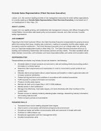 Sales Representative Resume Sample 51 New Of Outside Sales Job Resume Examples Image