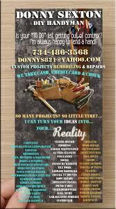 Handyman Flyer Template Best Donny Handyman Flyer Donny DIY Handyman Projects Pinterest