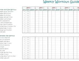 Weight Log Template Pictures Blank Training Program Template