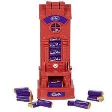 Mini Chocolate Vending Machine Adorable Cadbury's Dairy Milk Miniatures Dispenser Machine Retro To Go