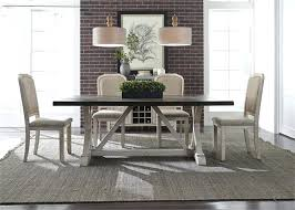rustic white dining set trestle table 5 piece in and distressed28