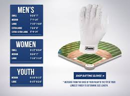Batting Glove Size Chart Franklin Batting Glove Hand Size Chart Franklin Sports