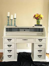roll away desk made new home furnishings rough looking roll top desk turned gorgeous as pure