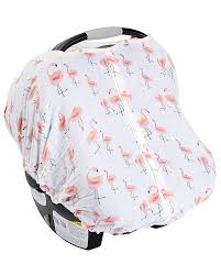 little unicorn muslin car seat canopy flamingo pink las 100 cotton muslin stroller