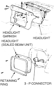 how do u replace the headlight on a 1988 honda accord lxi