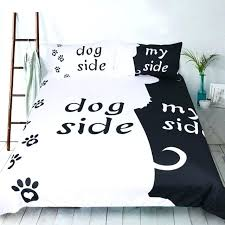 dog bedding set dog bedding set black and white love print duvet cover set with pillowcase dog crate bedding set