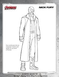 Disney Movies Printable Coloring Pages With Avengers Nick Fury Page