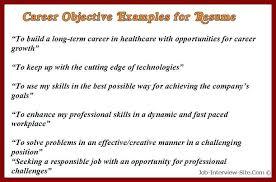 Resume Career Objective Samples Topshoppingnetwork Com