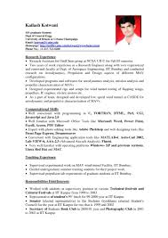 Examples Of Resumes Make Resume Format Mnc Brefash Within 89