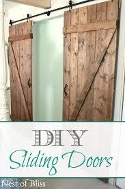 9 doubles diy sliding doors