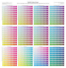 [cmy (k = 0) value below color box; Paint Color Chart Printable Page 1 Line 17qq Com