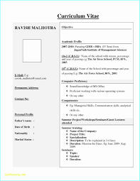 Resume Air Hostess Best Resume Format Download For Fresher With Photo Resume