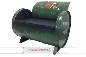 drum furniture. Industrial Oil Drum Furniture Sofa