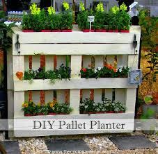 diy pallet planter the micro gardener