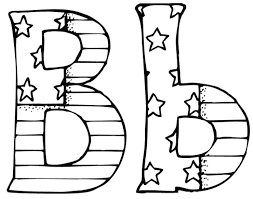 Letter B Coloring Pages Inside Page