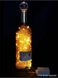 upcycled seagram s 7 mood therapy liquor bottle light