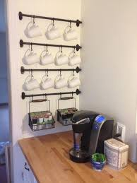simple neat and sweet coffee station décor
