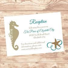 Wedding Reception Or Information Insert Card Diy Template Seashel In
