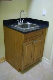 Bathrooms Cabinets : Bathroom Corner Sink Base Cabinet With Small ...