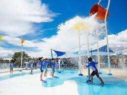 pool splash. Lloyd Elsmore Park Pool Splash Pad, Pakuranga. Photo/Auckland Council.