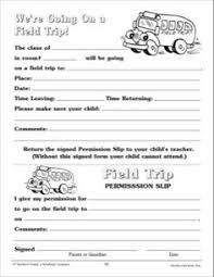 Field Trip Permission Form Freebie Our Store Preschool