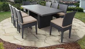belle rectangular outdoor patio dining