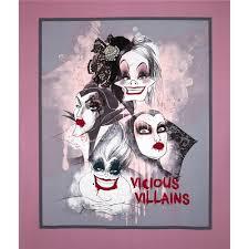 Quilting Fabric, disney villains - Fabric.com & Disney Villians Vicious Villains Panel-36