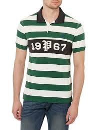 polo ralph lauren custom fit striped 1967 rugby top forest green mens polo ralph lauren
