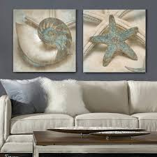 Small Picture Aliexpresscom Buy Gray blue ocean canvas wall art posters and