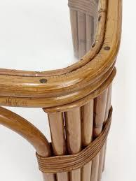 mid century rectangular bamboo and